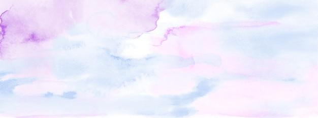 背景の抽象的な水色の水彩画。芸術的なベクトルを染色