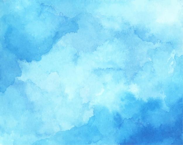 背景の抽象的な水色の水彩画。