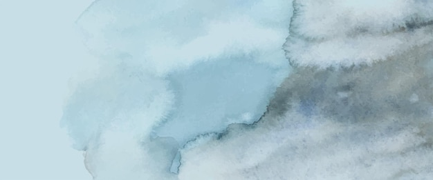 Abstract light blue watercolor hand-painted for background. stains artistic vector used as being an element in the decorative design of header, poster, card, cover, or banner. brush included in file.