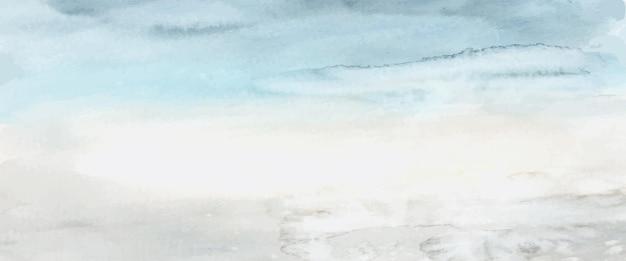 Абстрактная голубая акварель ручная роспись для фона. художественный вектор пятен используется как элемент декоративного оформления заголовка, плаката, открытки, обложки или баннера. кисть включена в файл.