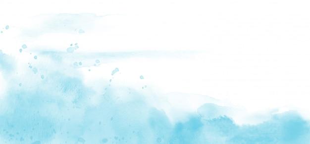 背景の抽象的な水色水彩テクスチャ