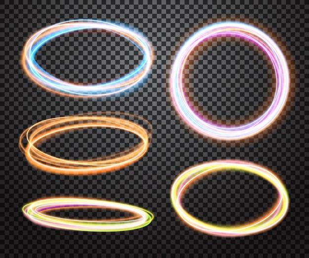 抽象的な光の円