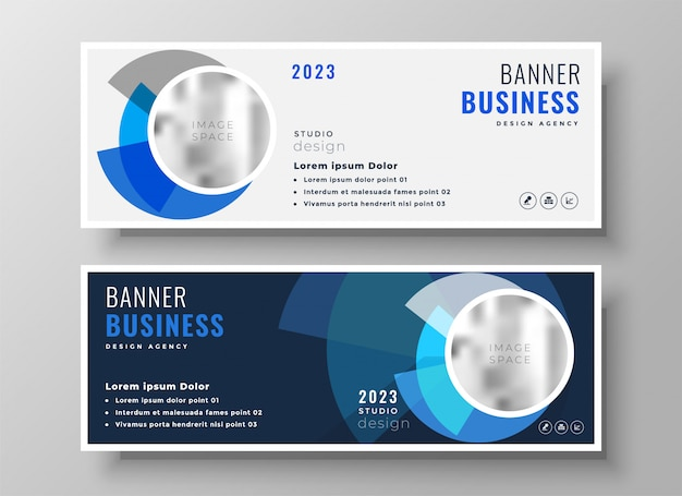Abstract light and dark business banners