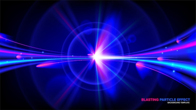 Abstract light effect in vector