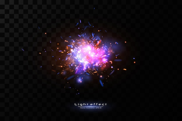 抽象ライトゲームの背景。スペースネオンスパークス。