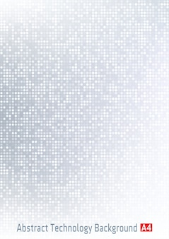 Abstract light gray  technology circle pixel digital gradient background.