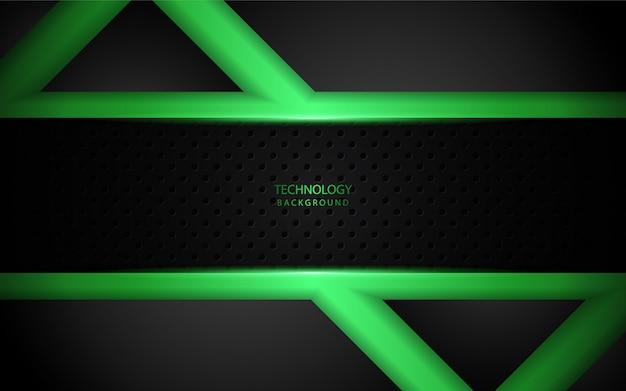 Abstract light green on dark background