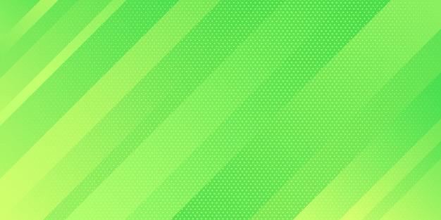 추상 밝은 녹색 그라데이션 색상과 점 텍스처 하프 톤 스타일 사선 줄무늬 배경.