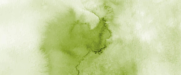 Abstract light green watercolor hand-painted for background. stains artistic vector used as being an element in the decorative design of header, poster, card, cover, or banner. brush included in file.