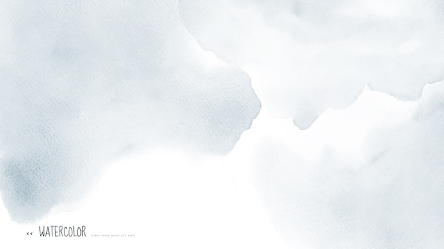 Абстрактная светло-серая акварель для фона.