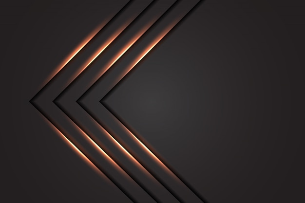 Abstract light line arrow luxury with dark grey background