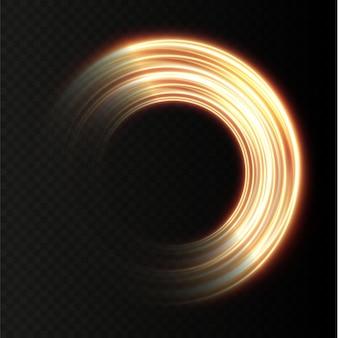 Абстрактные светлые неоновые линии, закрученные по спирали