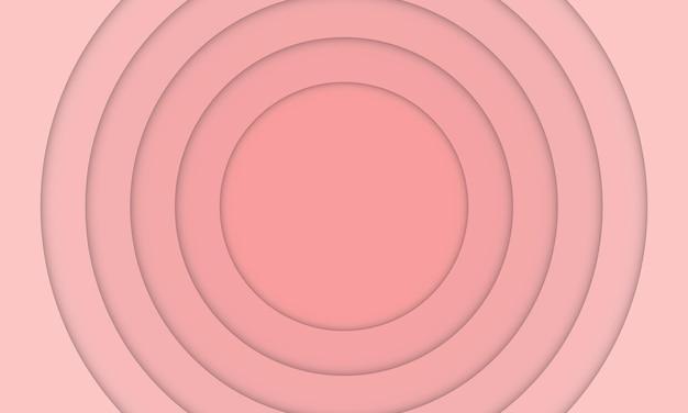 抽象的な淡いピンクの紙カットスタイルの背景。バナーのデザイン。