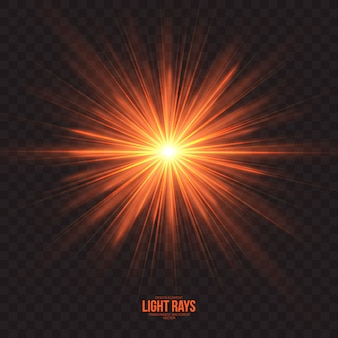 Abstract light rays effect vector background