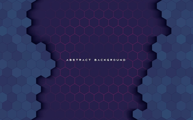 Abstract light and shadow hexagon texture dimension background