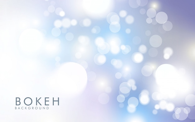 Abstract light silver bokeh background