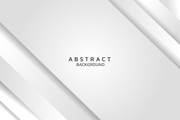 Abstract light silver with shadow background vector modern white background