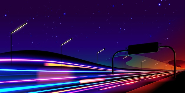 Abstract light trail in background