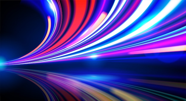 バックグラウンドで抽象的な光の道 Premiumベクター
