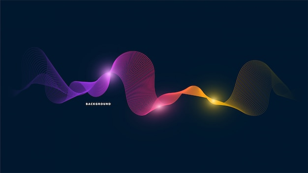Абстрактный фон световой волны