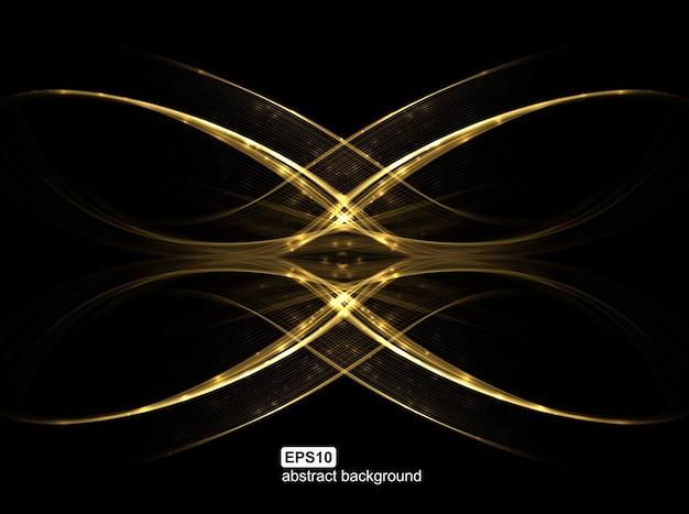 抽象的な光波の未来的な背景