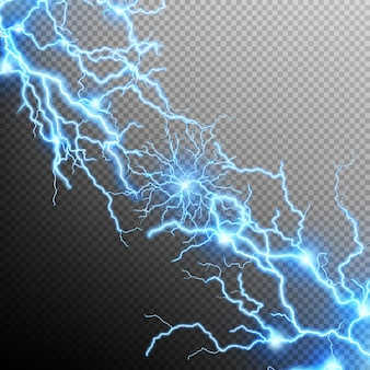 Abstract lightning storm background.