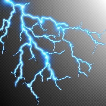 抽象的な雷嵐背景。