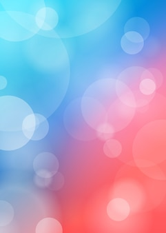 Abstract lights on blue blurred