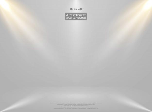 Abstract of lights studio room presentation