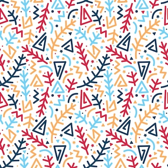 Abstract line and arrow shapes seamless pattern