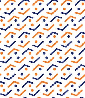 ドットイラストパターンの抽象的な線画