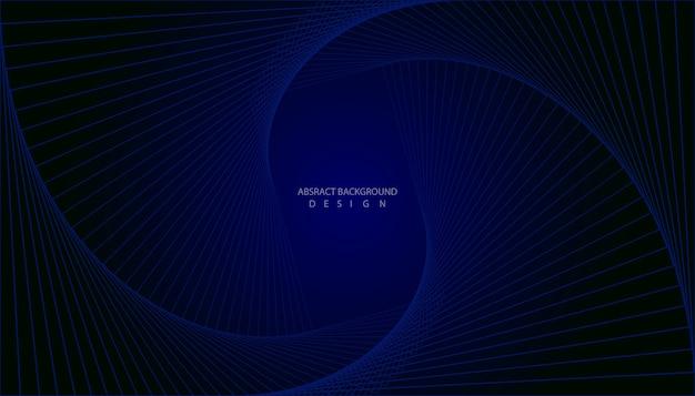 Абстрактная линия темно-синий фон дизайн.
