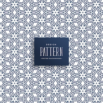Abstract line flower style pattern background
