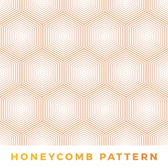 Abstract line honeycomb pattern.