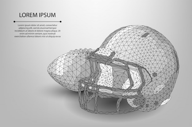 Abstract line and point rugby ball and helmet template