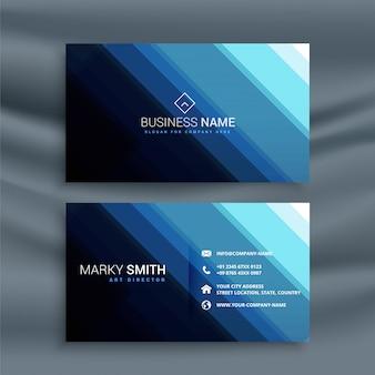 Абстрактная линия синяя визитная карточка