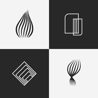 Abstract lineal logo collection concept