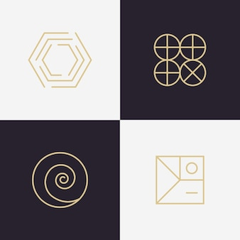 Abstract lineal logo collection