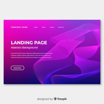 Abstract lineal shapes landing page