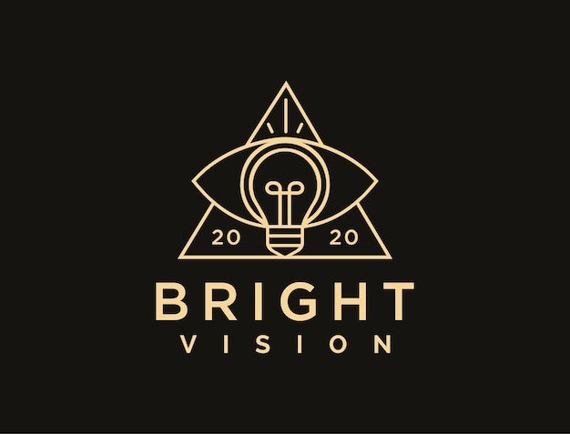 Abstract lineart vision logo , eye and lightbulb logo   template
