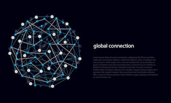 Abstract Lines and Dots of Global Connections