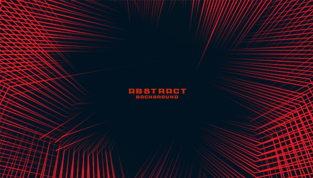 Abstract lines background in red and black color duotone theme