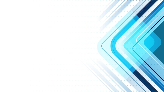 Abstract lines background with polygon and curved lines. modern, blue and white.