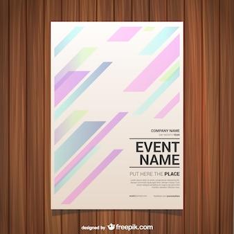 線の抽象ベクトルポスター
