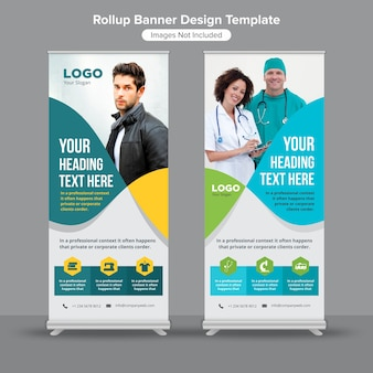 Abstract lines roll up banner design