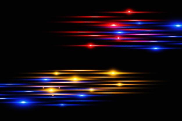 グローライト効果のある抽象的な線グロー特殊ライト効果