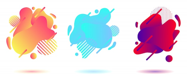 Abstract liquid background set