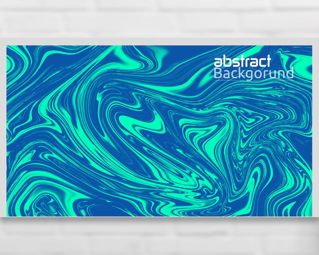 Abstract liquid background template