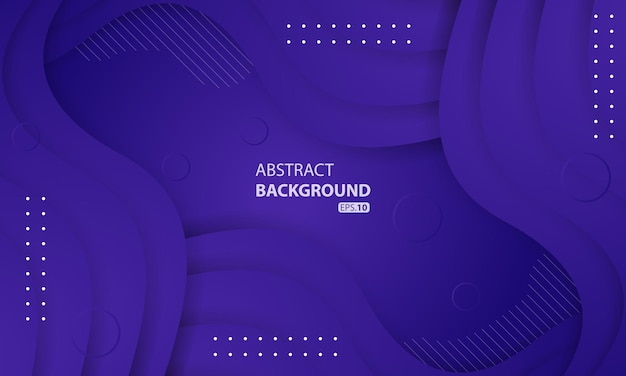 Абстрактный жидкий фон с фиолетовым цветом градиента. динамический текстурированный дизайн фона. eps 10