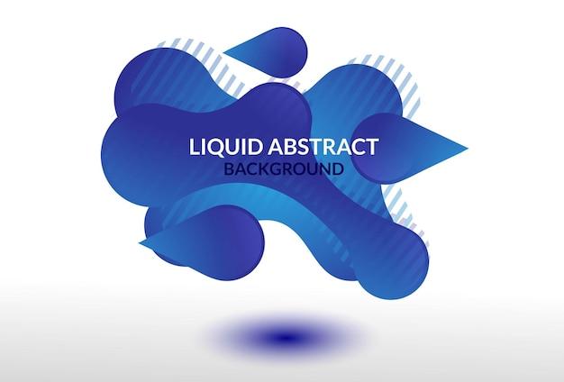 抽象的な液体バナー背景グラデーション青